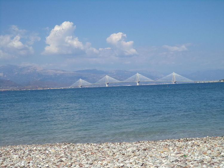 Beachphotography Blue Skies Blue Water Blue Sky Bridge Greece Patras,Greece Rio-antirio Bridge Summer