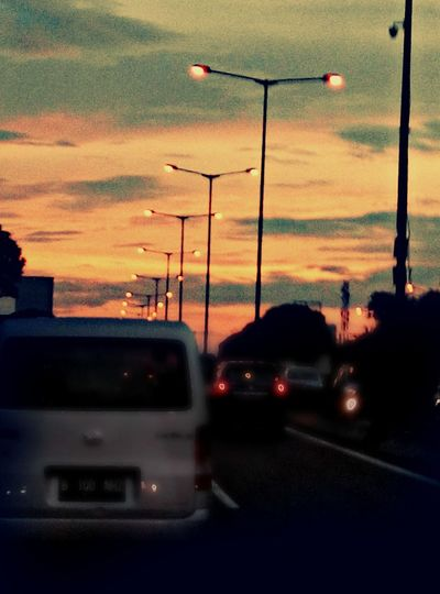 Senja Hari On The Way Twilight Trip Photo