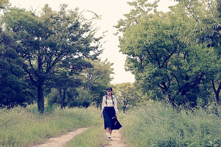 Tree Green Color Nature Model Young Adult Beauty In Nature Camera Girl Art