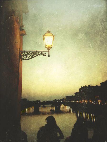 Water Bridge Sunset Mextures Edited People Silhouettes