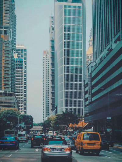 City Cityscape Urban Skyline Skyscraper Modern Yellow Taxi Car Land Vehicle Architecture Building Exterior Urban Sprawl High Street Office Building The Architect - 2018 EyeEm Awards