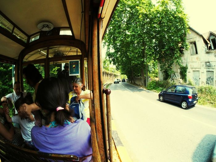 Child People Adult Girls Day Outdoors Real People Women Lifestyles Togetherness Full Length Beauty City Tram Sintra Portugal Wide Fisheye