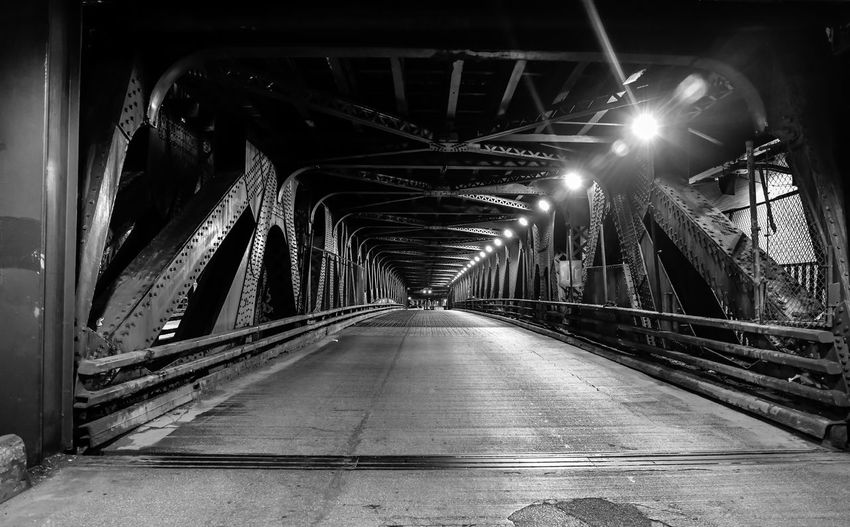 View of illuminated bridge