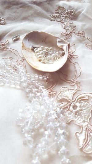 Handmade Art Beads Inprocess Designer  Embroidery Unique Design Needlework Artstudio Seashell Crystal Pearls Lace