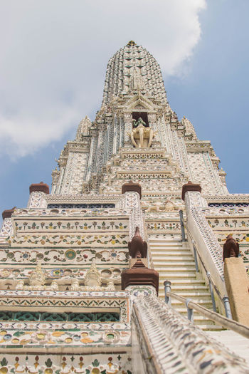 Bangkok Thailand Architecture Building Exterior Built Structure Day Low Angle View No People Outdoors Place Of Worship Religion Sculpture Sky Spirituality Statue Temple Thailandtravel Travel Destinations Watarun