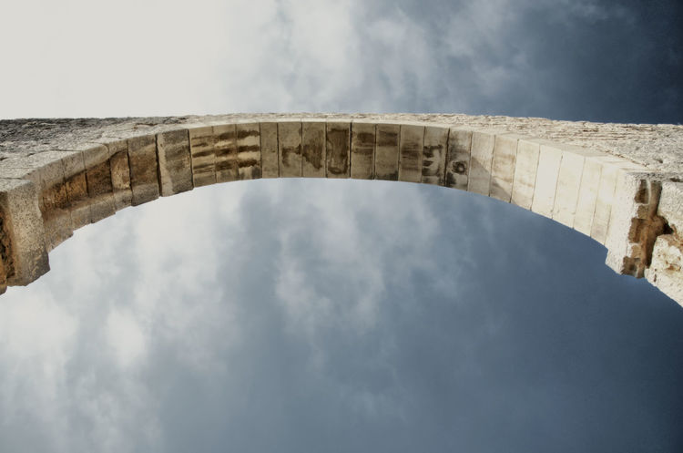 Arch. and sky Ancient Civilization Arch Arch Bridge Architectural Column Architecture Built Structure Cloud - Sky History Low Angle View No People Outdoors Sky The Past Travel Travel Destinations Visual Creativity The Still Life Photographer - 2018 EyeEm Awards EyeEmNewHere