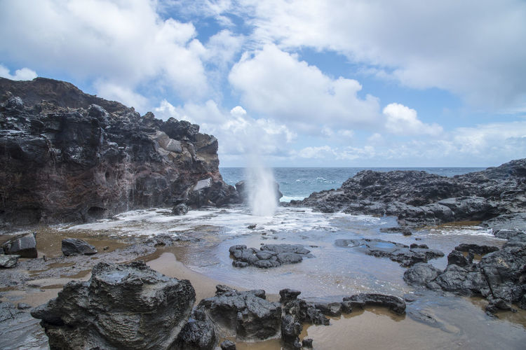 Nakalele blowhole Hawaii Blowhole Coast Hawaii Islands Maui Nakalele Pacific Sea Travel Destinations Vacation