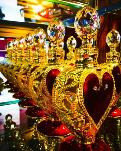 The scent of love Perfumes Heart Shape Red And Gold Golden Perfume Bottle Perfume Collection Glass Bottle Jewelry Jewels Sparkle Intricate Details Love Hearts Heartshape Smells Good Singapore Just Looking