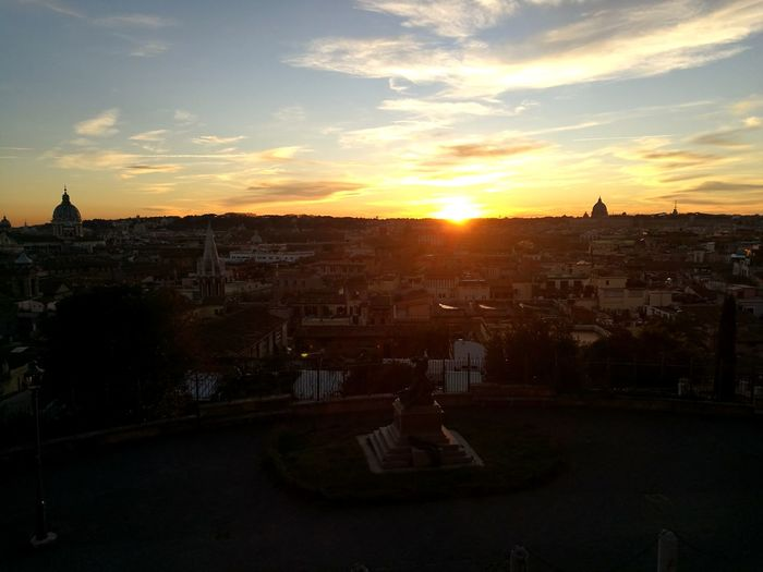 Rome... Sun Rome Gold Architecture Cityscape No People Built Structure City Landscape Sky Outdoors Urban Skyline Day