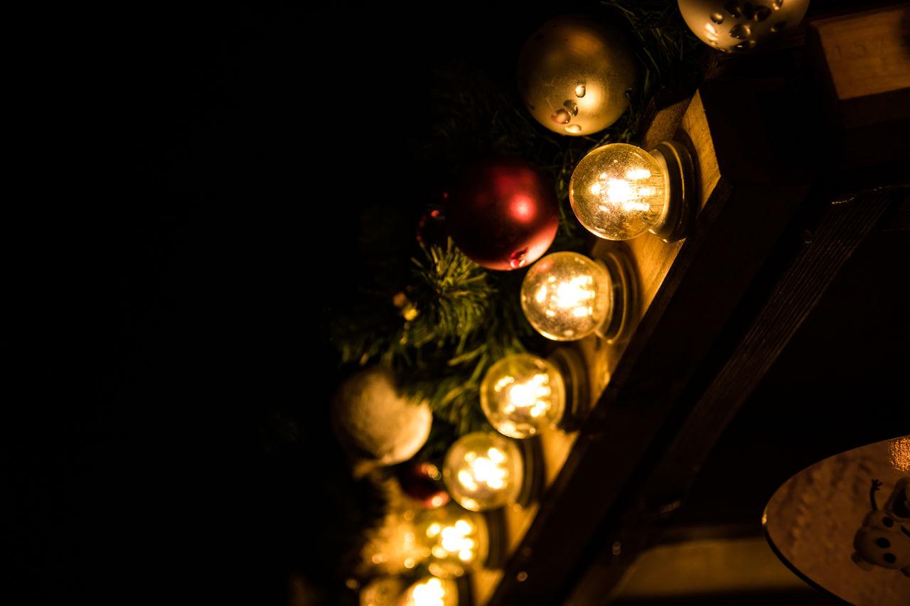 illuminated, night, celebration, no people, lighting equipment, tradition, christmas, christmas decoration, indoors, close-up