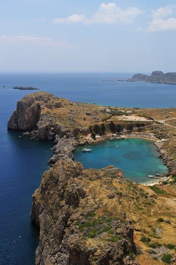Beauty In Nature Day Greece Greek Islands Horizon Over Water Idyllic Nature No People Outdoors Rhodes Ródos Scenics Sea Water