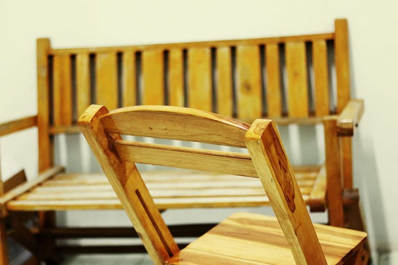 Close-up of empty seats at home