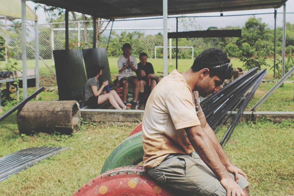 The Photojournalist - 2017 EyeEm Awards Sitting Men People Working Volunteering Volunteer Work Service Outdoors Close-up Rural Scene Day Costa Rica