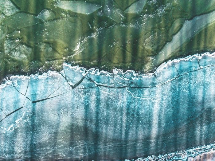 Shore ice from a totally frozen lake creats a beautiful setting from a birdsview playing with shadows and sunlight First Eyeem Photo Landscape Aerial View Drone  Ice Winter Aerial Photography