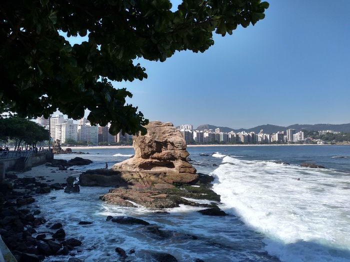 Water Rock Nature Sea Sky Day Beauty In Nature Clear Sky