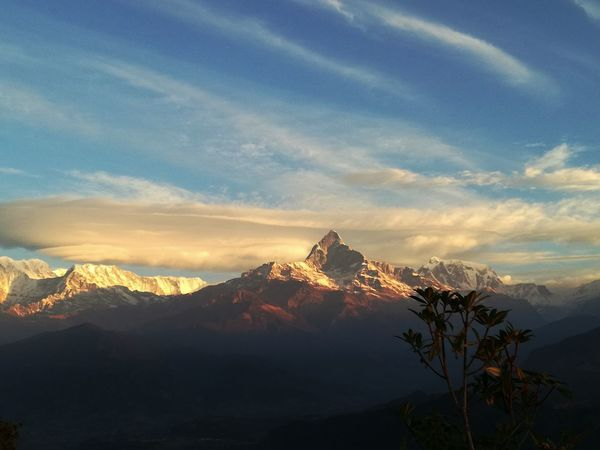 Beautiful 💚 Annapurna Beauty In Nature Breathtaking View Cloud - Sky Cold Temperature Day Exceptional  Feelings Hiking Himalayas Landscape_Collection Mountain Mountain Peak Mountain_collection Nature Nepal No People Outdoors Phenomenal Pokhara Scenics Snow The Secret Spaces Trekking In Nepal Winter