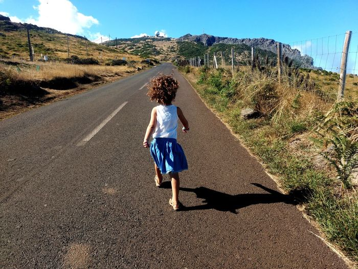 Pico Do Arieiro Highway Nature Island Madeira Portugal Tranquility Idyllic Road Children Wildlife Wild Full Length Shadow Childhood Sunlight Rear View Sand Dune Walking Desert Sky Landscape 2018 In One Photograph