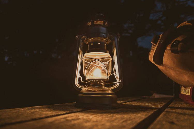 Camp site Light Sweden Camp View Cosy Natue Night Oil Lamp Outdoors Table