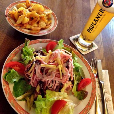 Wurstsalat mit Bratkartoffeln... \o/