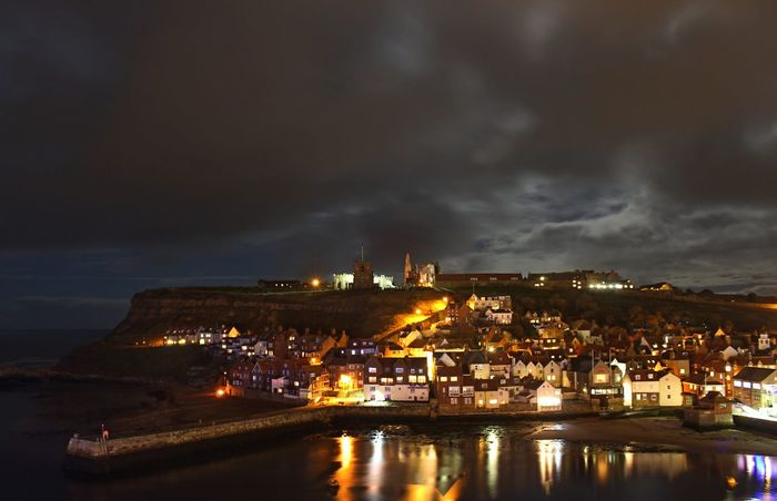 Whitby Whitby Harbour Whitby North Yorkshire Architecture Building Exterior Built Structure City Cityscape Cloud - Sky Forked Lightning Illuminated Industry Nature Nautical Vessel Night No People Outdoors Power In Nature Sea Sky Water Whitby View