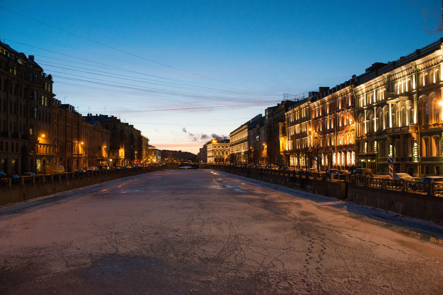 Architecture Building Exterior Canal City Cloud - Sky Day Ice Ice Covered  No People Outdoors Sky Snow Sunset Waterway Winter