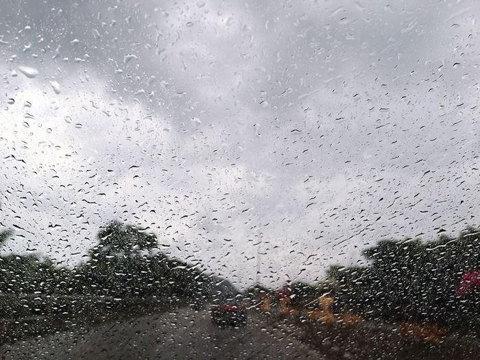 Glass - Material Drop Window Transparent Wet Rain Weather Rainy Season RainDrop Water Car