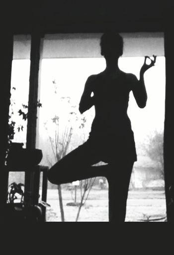 Yoga Pose Tree Pose Sihouette