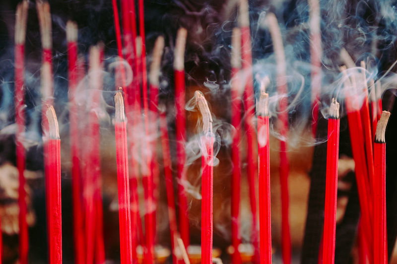 Hio Chinese Chinese New Year Close-up Day Hio Incense Large Group Of People Outdoors Smoke - Physical Structure