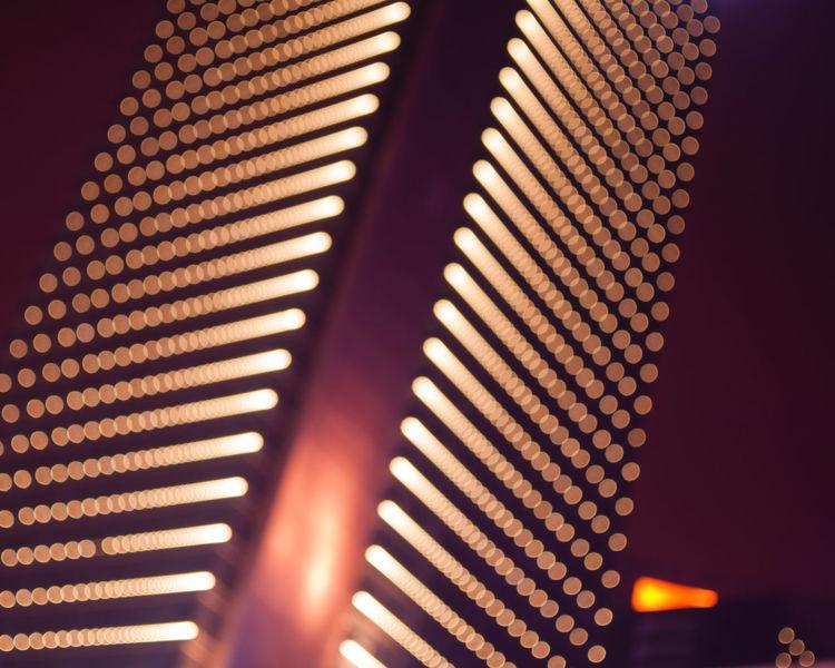Blur Bokeh Building Cities At Night Hefei Illuminated Lights Night Nightscape