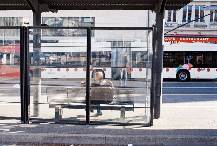35mm Film Busstop Buyfilmnotmegapixels Cliche Everybodystreet Filmisnotdead Ishootfilm Streetphotography Streetstyle The Street Photographer - 2017 EyeEm Awards