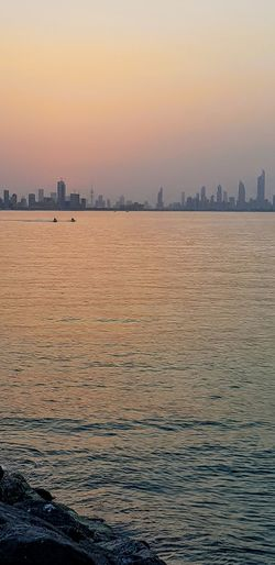 Sunset, Salmiya, Kuwait City Cityscape Urban Skyline View Into Land Sunset Skyscraper Nightlife Politics And Government Harbor Beach Romantic Sky Dramatic Sky Atmospheric Mood Sky Only Moody Sky Forked Lightning Overcast EyeEmNewHere #urbanana: The Urban Playground