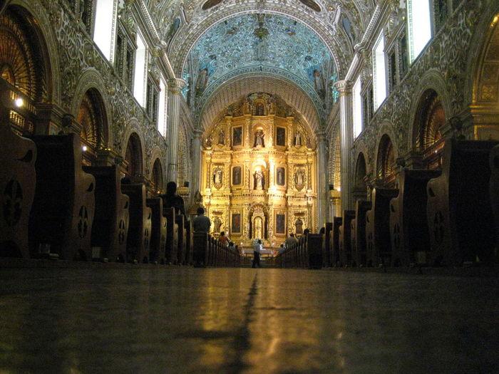 Interior Of Church Of Santo Domingo De Guzman