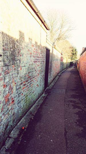 Alley Short Cut  No People Flint Wall Alleyway Sky Building Empty Road