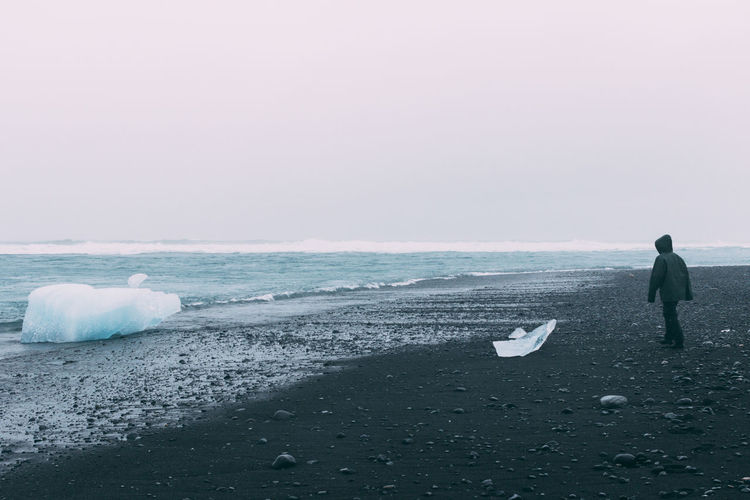 Adult Adults Only Day Horizon Over Water Ice Iceberg Iceland Nature Nature Photography One Man Only One Person Only Men Outdoors People Sea