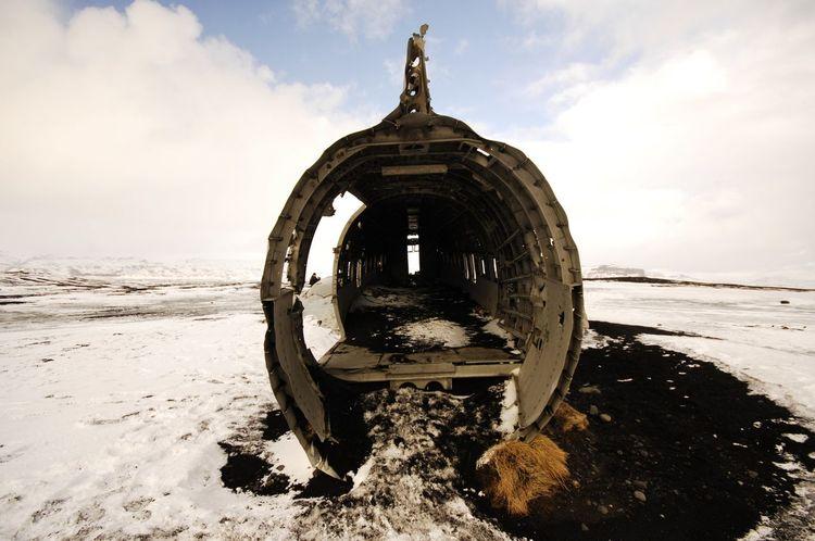 Iceland Air Plane Outside Winter Nikon D2x