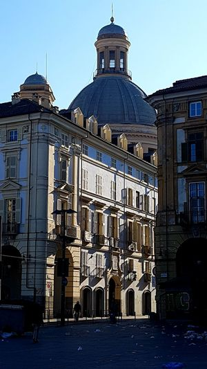 Painted by the sun Dome Church Street Photography Sunlight And Shadow Marketplace Architecture Shine Perspective Blue Sky Clear Day Walking Around My City Italy City Cityscape Sky Architecture Building Exterior Built Structure Historic Façade Palace Past Place Of Interest