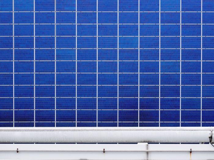 Full frame view of solar panels