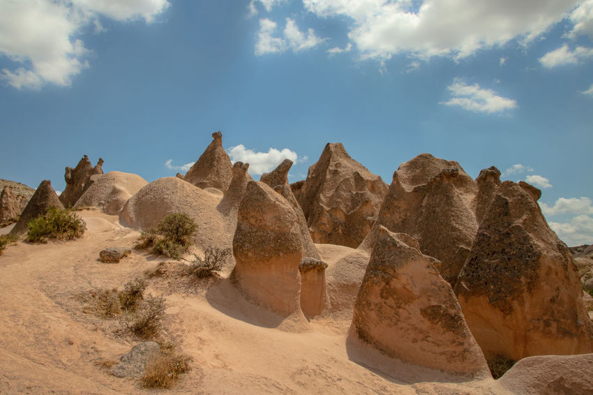 Cappadocia Cappadocia Cappadocia/Turkey Earth Rock Formation Turkey Arid Climate Beauty In Nature Climate Cloud - Sky Geological Formation Geological Landscape Geology Land Landscape Nature Physical Geography Rock Rock - Object Sand Scenics - Nature Sky Solid Tranquil Scene Tranquility Travel Destinations