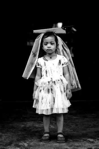 Child Childhood Holloween Holloweencostume Death Blackandwhite Blackandwhite Photography Blackandwhitephotography Costume Portrait Halloween Black Background Standing