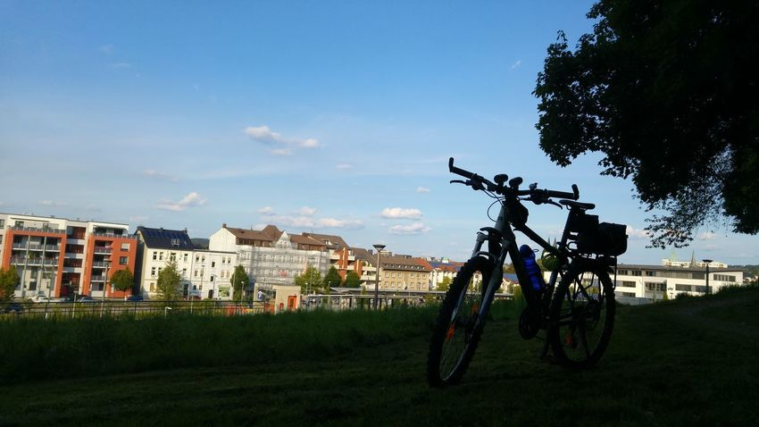 Bicycle Sky No People Cloud - Sky Outdoors Day City Building Exterior Architecture Grass Tree Sauerland Iserlohn Bike Mountainbike Fahrrad