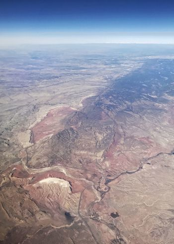 End of the mountain. Western USA Drainage Mountain Ridge Geology Desert Colors Drainage River System Desert Arid Landscape Nature Beauty In Nature Geology Scenics Landscape Tranquility Outdoors Arid Climate Physical Geography Aerial View Sky High Angle View