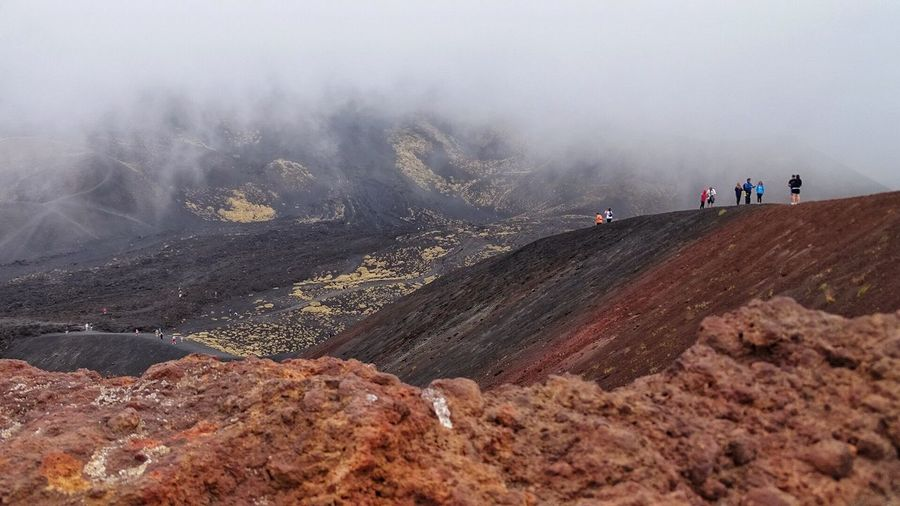 Etna, Mountain, Sicily, Crateri Silvestri Landscape Environment Group Of People Mountain Land Nature Scenics - Nature