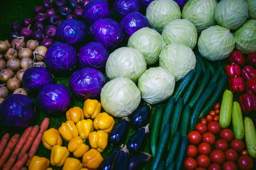 Abundance Backgrounds Choice Close-up Day Food Food And Drink Freshness Full Frame Green Color Healthy Eating Indoors  Large Group Of Objects Multi Colored No People Red Red Bell Pepper Variation Vegetable