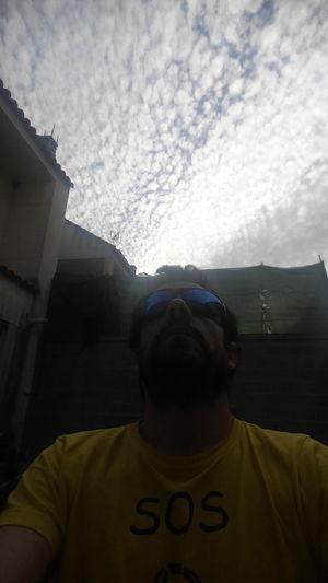 Nofilters That's Me Self Portrait Cloudporn Me I Backyard Home Skyporn Sunglasses