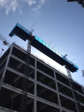 Building site Building Architecture Construction Clear Blue Sky Multi Storey Housing