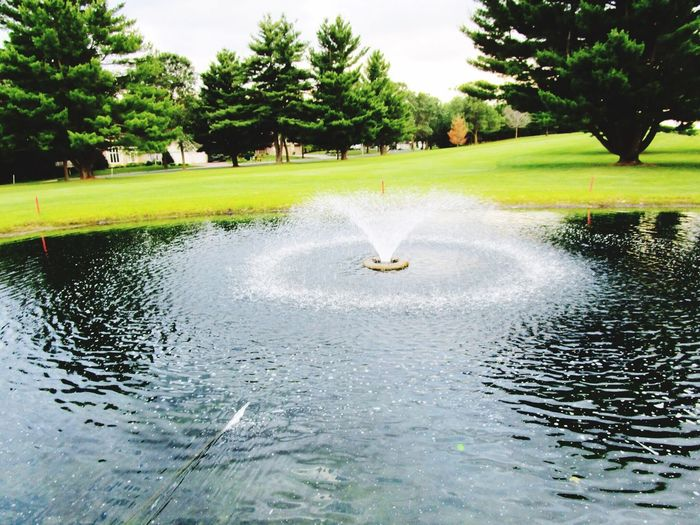 Waterfall Golf Course Nature Grass Outdoors Green Color No People Scenics