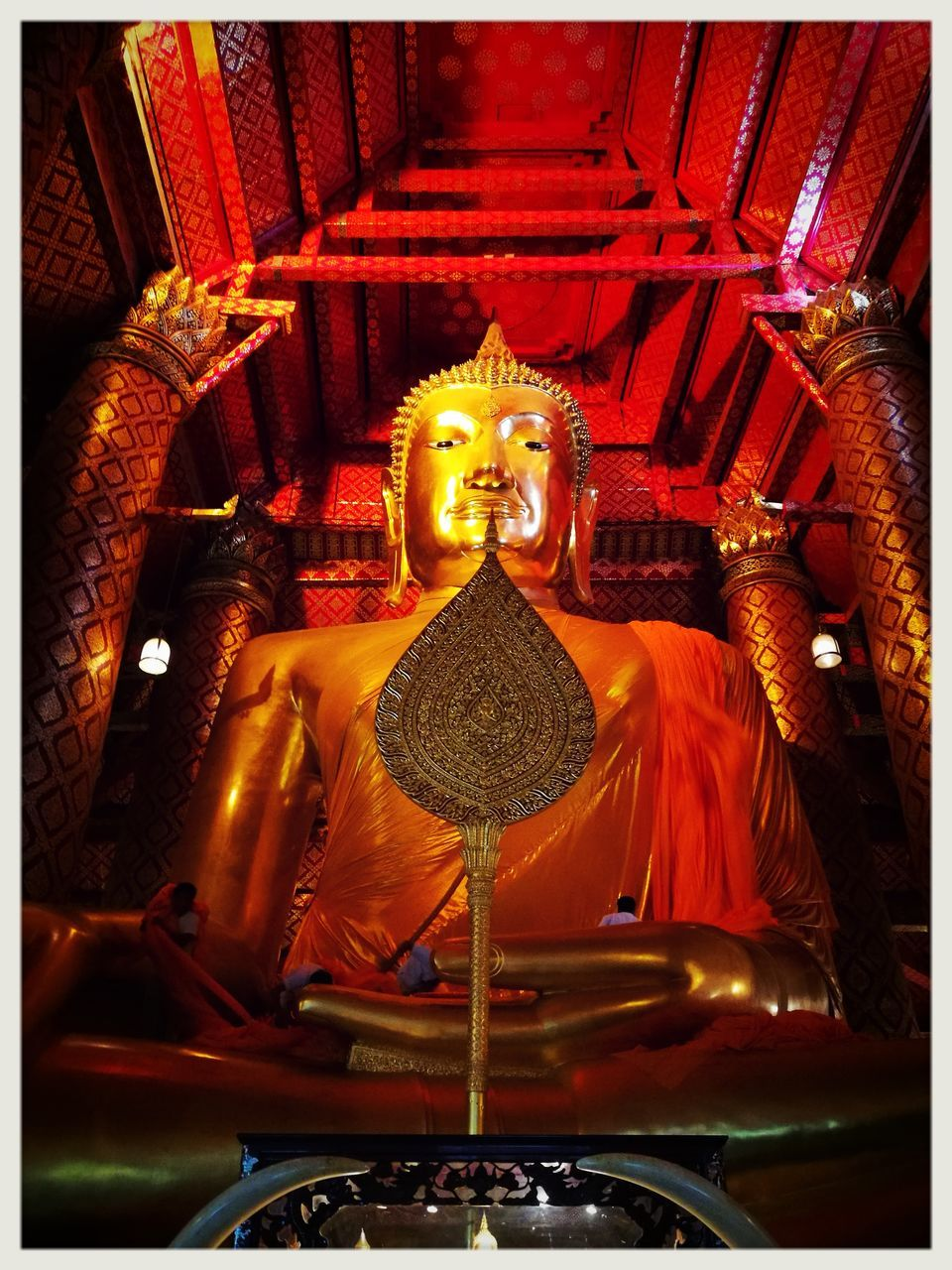 statue, religion, spirituality, indoors, sculpture, no people, gold colored, place of worship, day