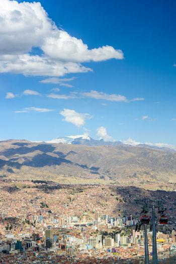 La Paz, Bolivia Ropeway Architecture City Cityscape Cloud - Sky Day Mountain Sky The Traveler - 2018 EyeEm Awards