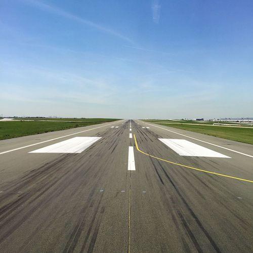 View of airport runway