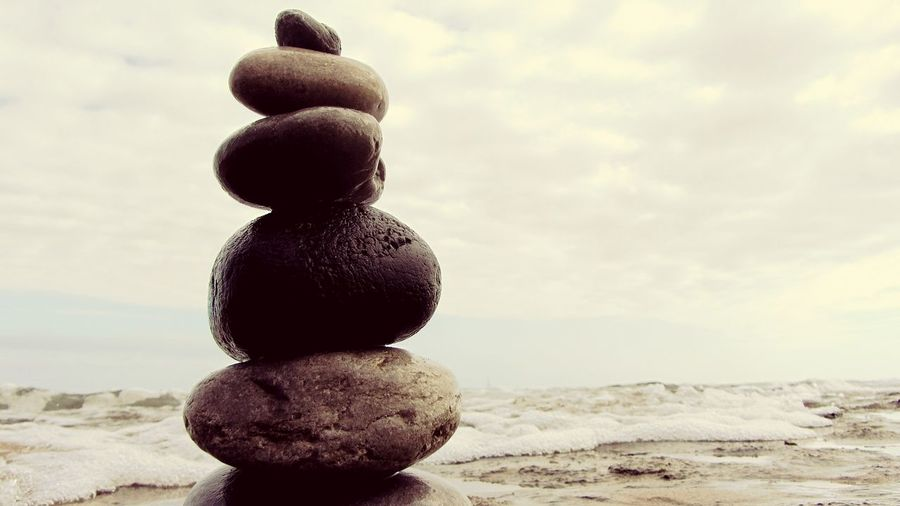 Composition, with rocks.. on the Beach Rocks Rocks And Water Zen Attitude Zen Sky EyeEm X WhiteWall: Landscap Eyeem X Whitewall: Nature Sea_collection Nature_collection Sea View Pastel Power